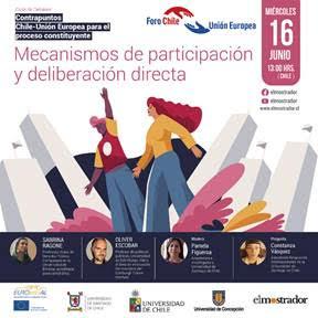 """Con éxito se realiza el segundo ciclo de debates """"Contrapuntos Chile-Unión Europea para el proceso constituyente: Mecanismos de participación y deliberación directa"""""""