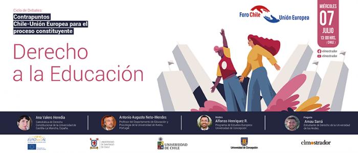 Derecho a la Educación: panel analizará las experiencias en países de la Unión Europea y su relevancia para el debate constitucional chileno